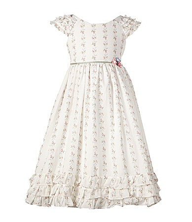 Laura Ashley London 2T-6X Floral Striped Dress
