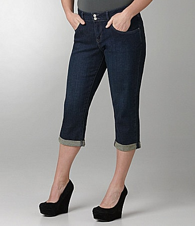 Levi�s Plus 542 Denim Capri Pants