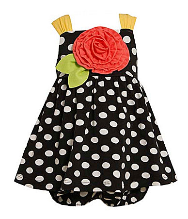 Bonnie Baby Infant Big Rose/Dot Sundress