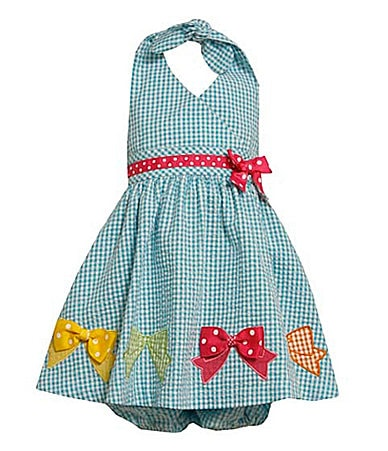 Bonnie Baby Infant Seersucker Halter Dress