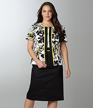 Le Bos Woman Floral Jacket Dress