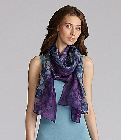 Eileen Fisher Watercolor Shibori Silk Scarf