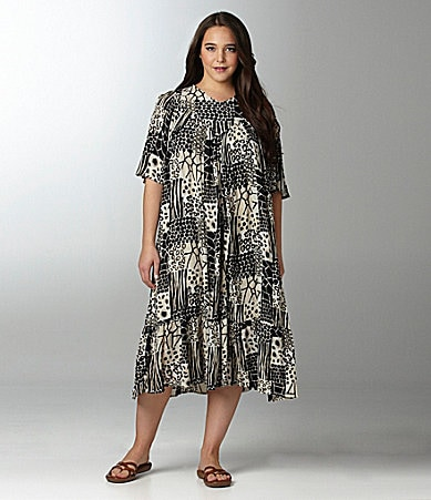 Go Softly Patio Woman Animal-Print Patio Dress