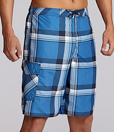 Roundtree & Yorke Tartan Plaid Swim Trunk