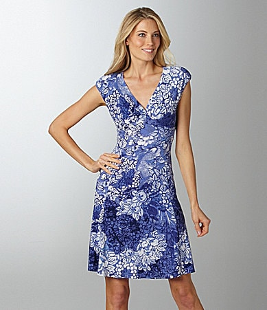 Jones New York Floral Print Dress
