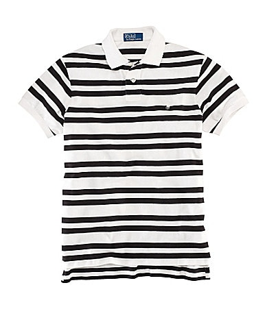 Polo Ralph Lauren Classic-Fit  Short-Sleeved Striped Mesh Polo