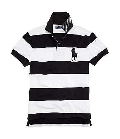 Polo Ralph Lauren Custom-Fit Pieced Mesh Polo Shirt