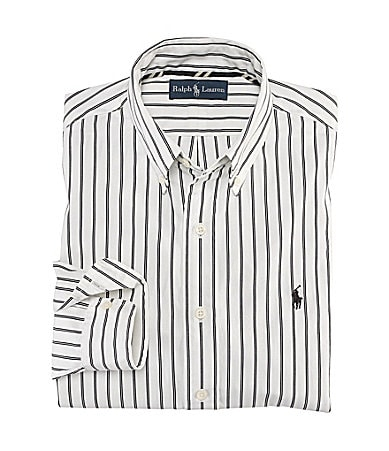Polo Ralph Lauren Custom-Fit Striped Poplin Shirt