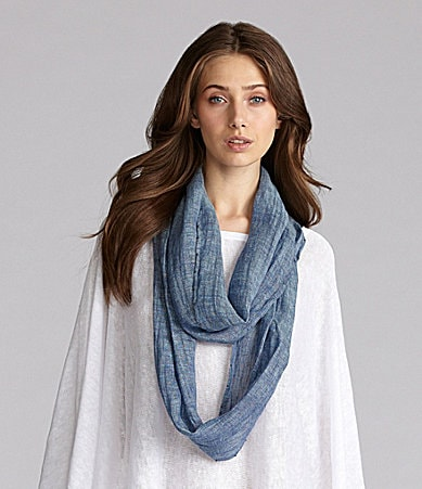Eileen Fisher Cross Dye Infinity Scarf