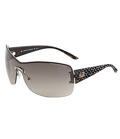 Armani Exchange Rimless Shield Sunglasses