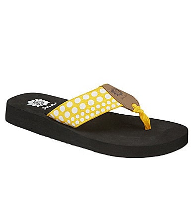 Yellow Box Candie Flip-Flops