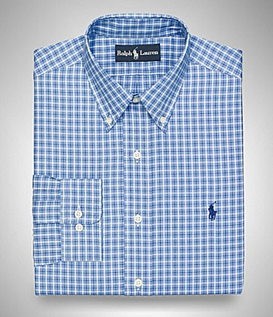 Polo Ralph Lauren Checked Button-Down Collar Dress Shirt