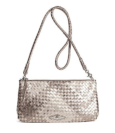 Elliott Lucca Three Way Woven Metallics Demi Clutch