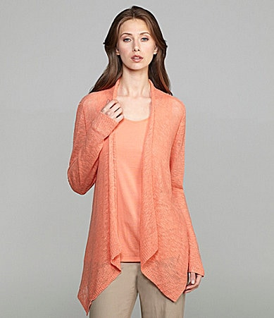 Eileen Fisher Draped Linen Cardigan