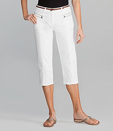 Multiples Cropped Pants With Zipper Pockets