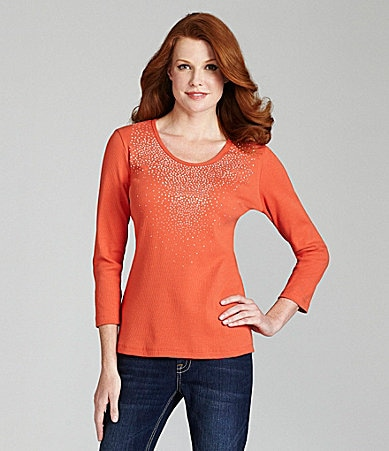 Reba Sunburst Ribbed Knit Top