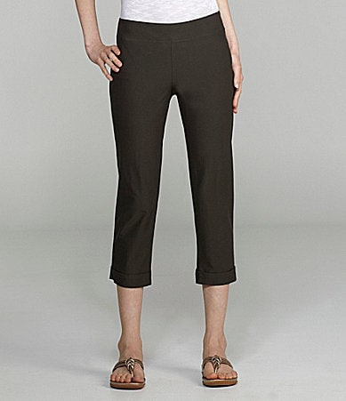 Eileen Fisher Cropped Crepe Straight-Leg Pants