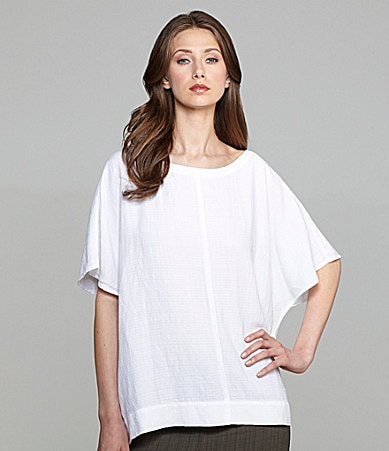 Eileen Fisher Gauze Batwing Top