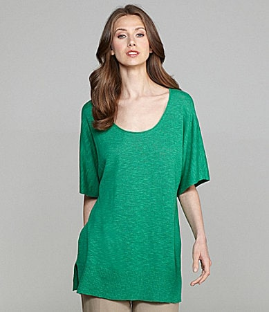 Eileen Fisher Linen-Cotton Tunic