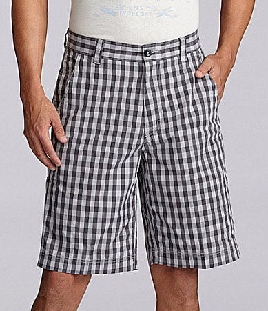 Roundtree & Yorke  Casuals Lightweight Plaid Shorts