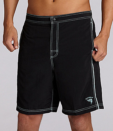 Caribbean Solid Basic Swim Trunk