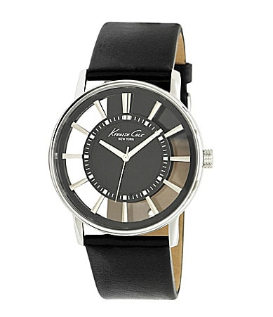 Kenneth Cole New York Transparent Men�s Leather Watch