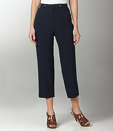 Investments II MADISON AVE fit Double Button Cropped Pants