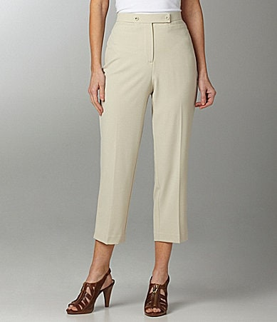 Investments Petites MADISON AVE fit Double Button Cropped Pants