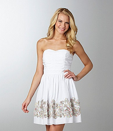 Sequin Hearts Border-Trim Dress