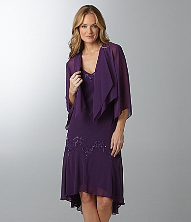 Alex Evenings Chiffon Jacket Dress
