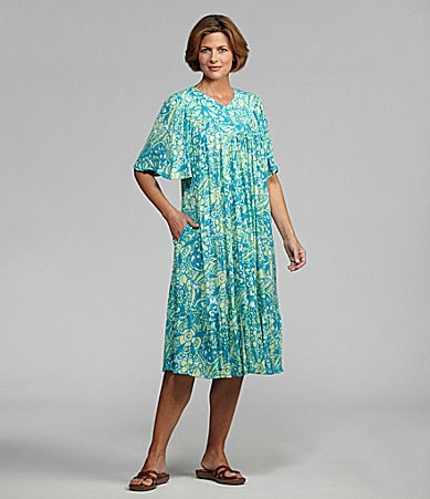 Go Softly Patio Rayon Floral Patio Dress