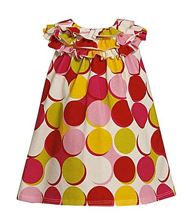 Bonnie Jean Toddler A-line Dot Print Dress
