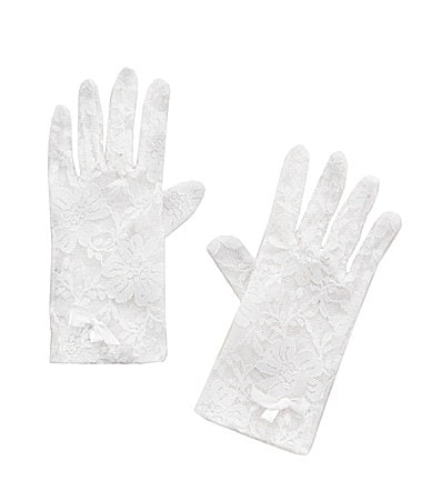 Copper Key White Lace Gloves