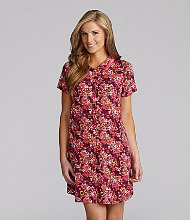 Cabernet Wineberry Floral Sleepshirt