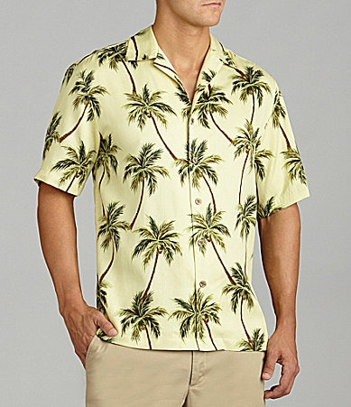 Caribbean Silky Palm Tree Print Shirt