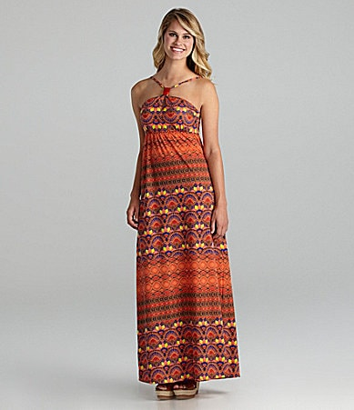 Jessica Simpson Jeanswear Obsession Halter Maxi Dress