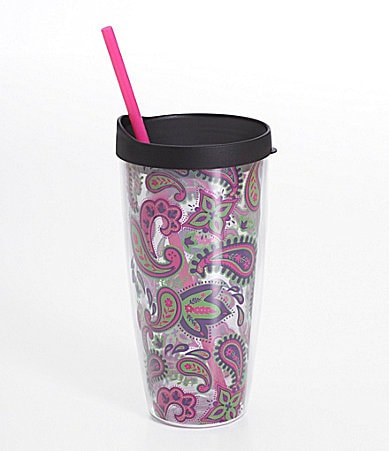 Formation Paisley Hot/Cold Tumbler w/Lid and Straw