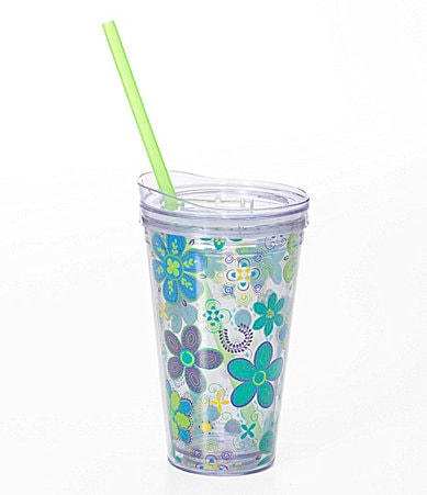Formation Floral Hot/Cold Tumbler with Lid and Straw