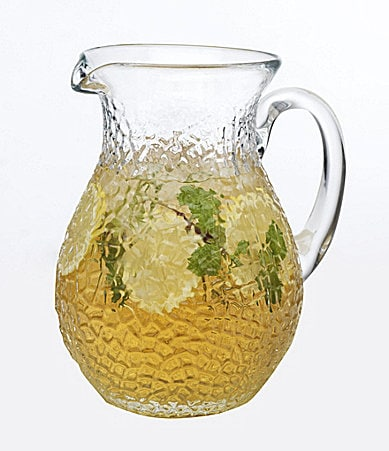 Artimino Clear Hammered Glass Pitcher