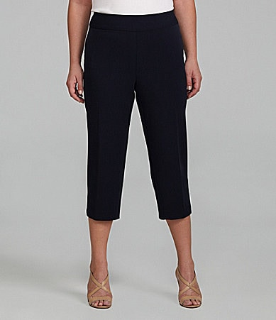 Investments II PARK AVE fit Pull-On Capri Pants