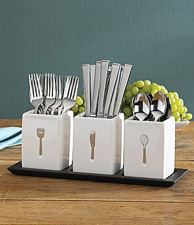 Towle Silversmiths Blakely 36-Piece Flatware Set with Buffet Caddy