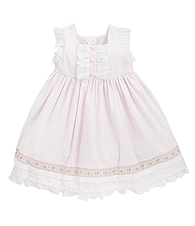 Laura Ashley London Infant Striped Seersucker Dress
