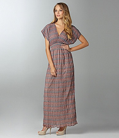 Aryn K. Zigzag Print Maxi Dress