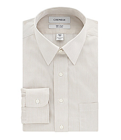 Cremieux Stripe Point-Collar Dress Shirt