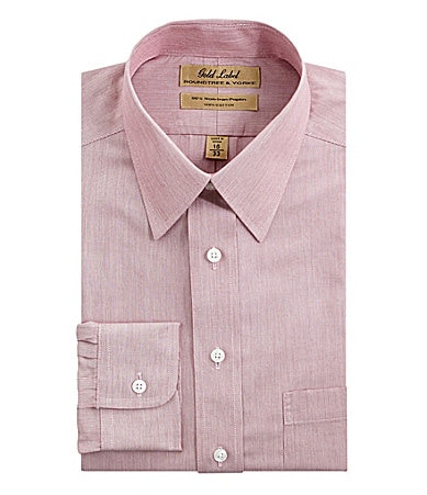 Roundtree & Yorke Gold Label Point-Collar Dress Shirt