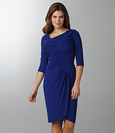 Adrianna Papell Ruched Jersey Dress