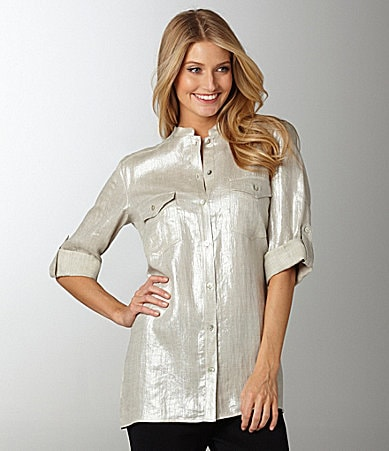 Louben Metallic Big Shirt
