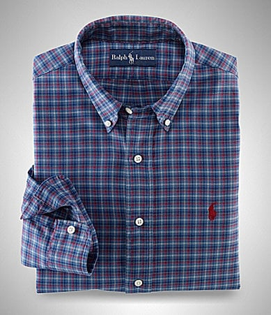 Polo Ralph Lauren Classic-Fit Plaid Twill Sportshirt