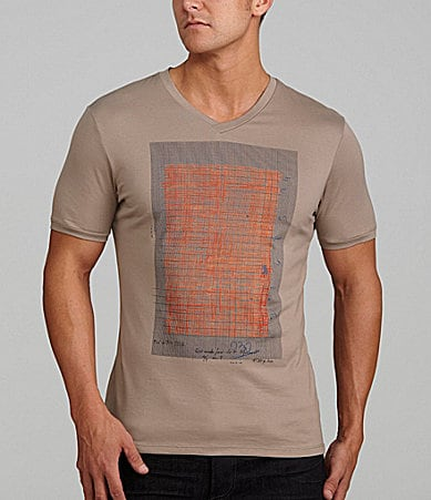 Murano Liquid Luxury Fitted V-Neck Grid Tee