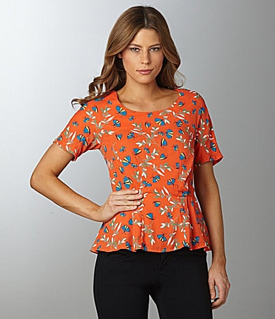 Sugar Lips Butterfly & Leaf Peplum Blouse